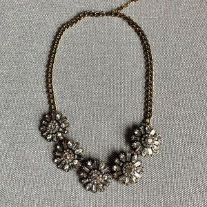 Baublebar Flower Rhinestone Statement Necklace